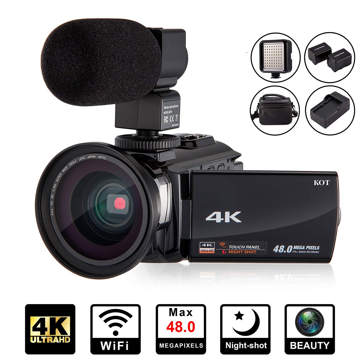 4K Camcorder Video Camera KOT HD