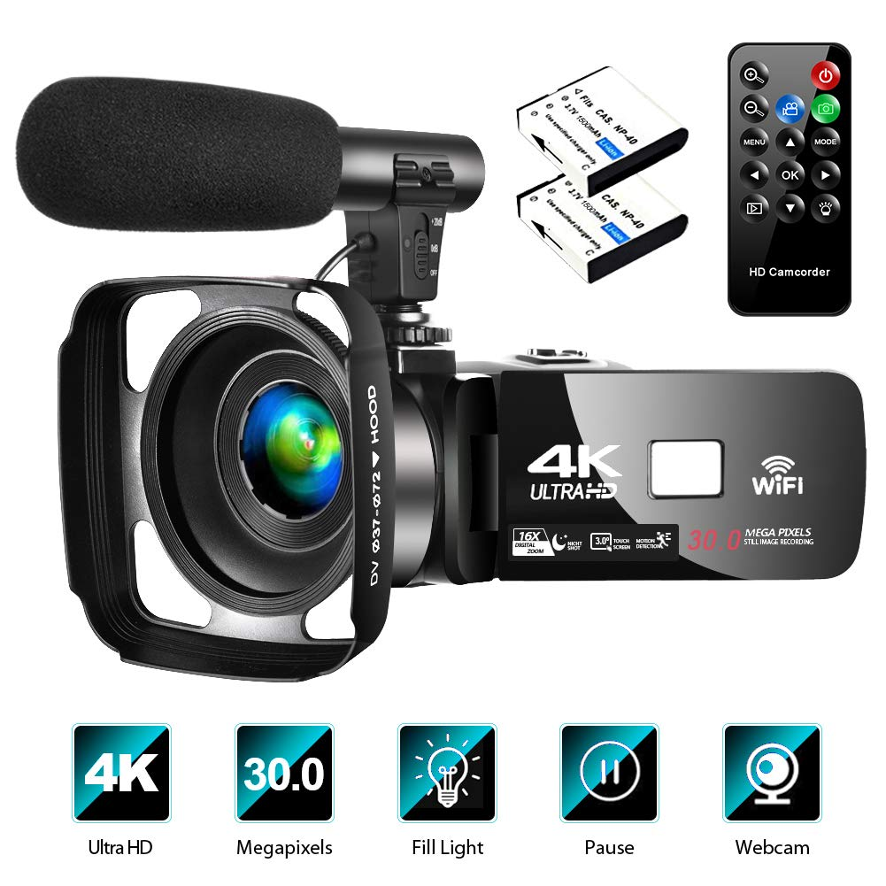 The 10 Best 4k Camcorder under 500 for Vlogging! [Buying Guides] 1