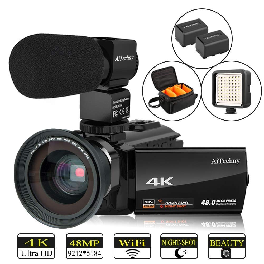 Video Camera 4K Camcorder Vlogging