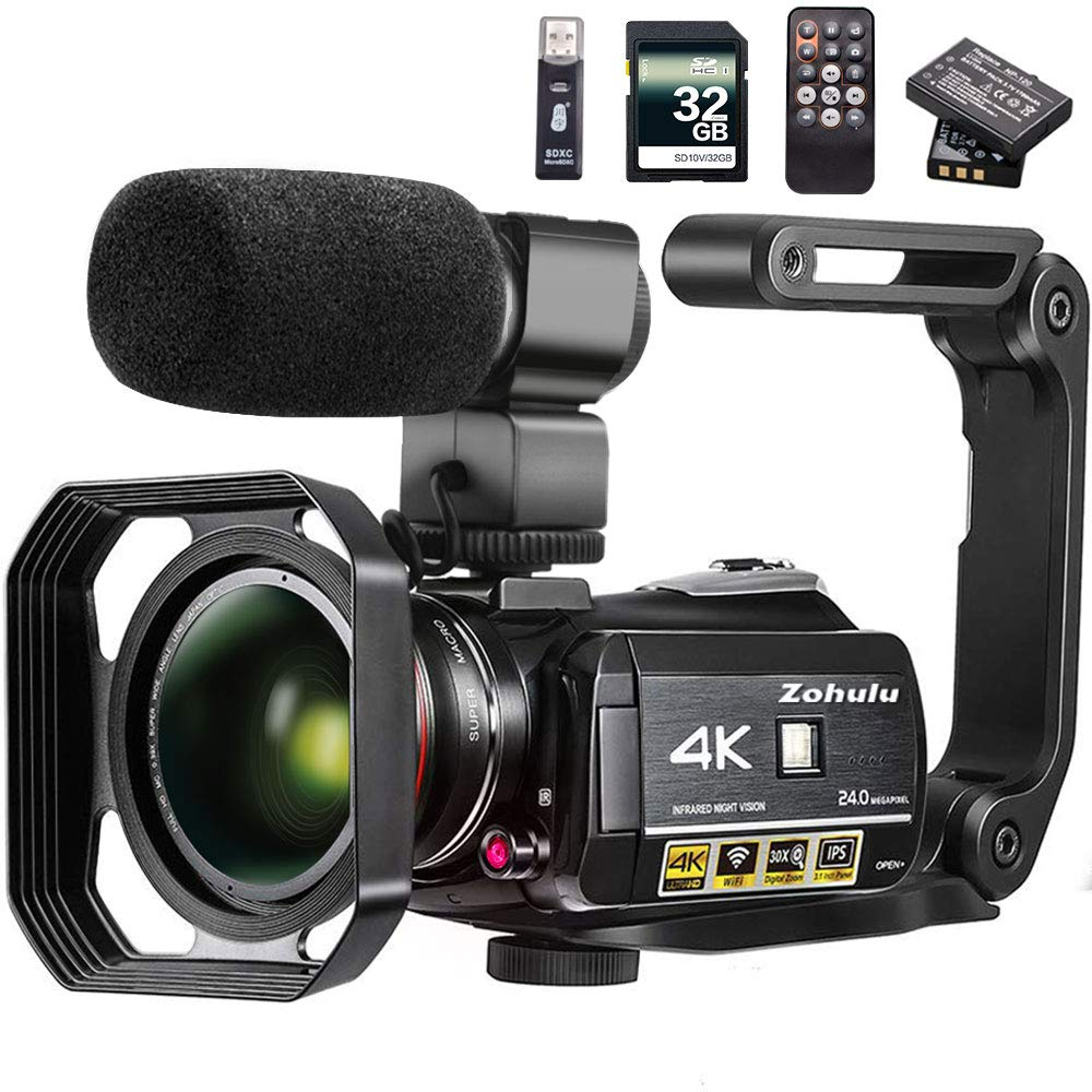 Video Camera 4K Camcorder ZOHULU