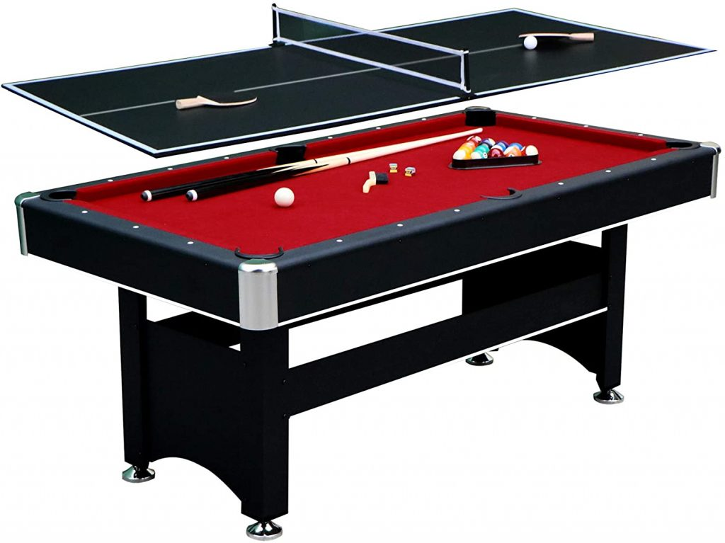 "Hathaway – 6-feet Spartan Black Pool Table [L 72"" x W 38"" x H 31]"
