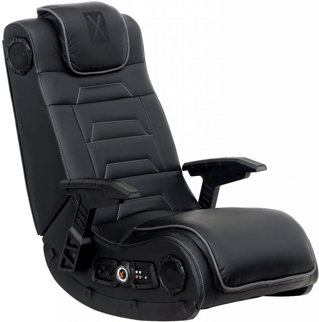 Pro Series Black Leather Vibrating Floor Chair