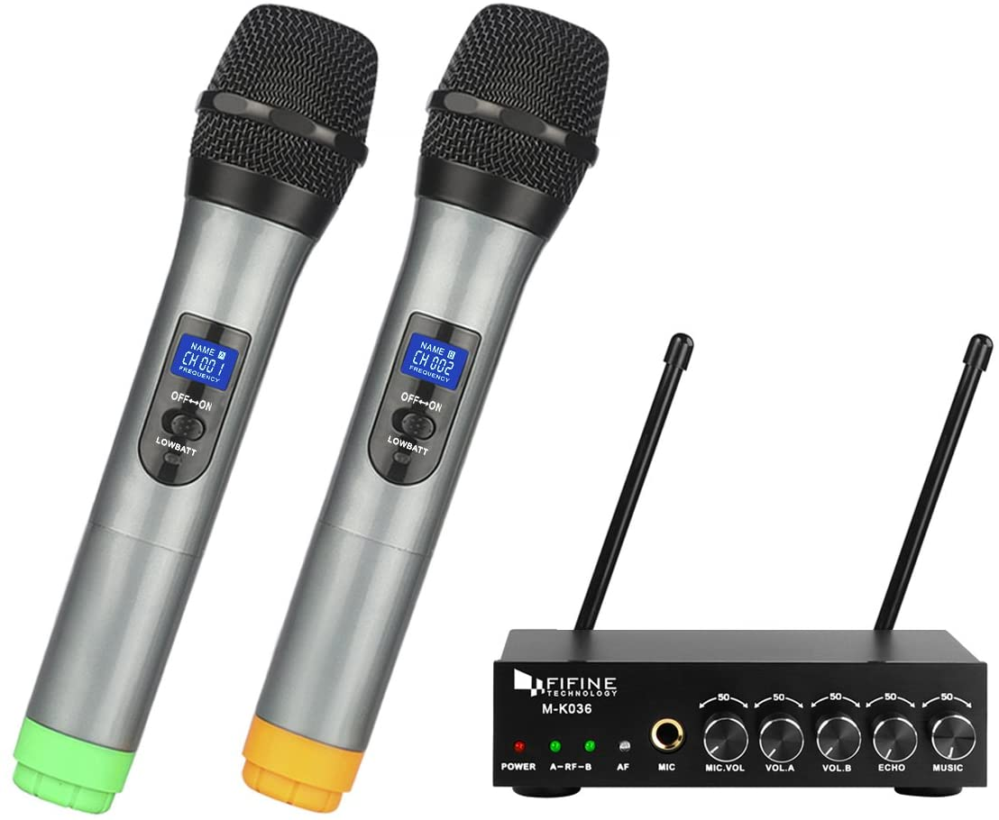 Fifine UHF Dual Channel Wireless