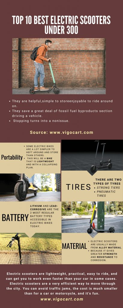 Top 10 Best Electric Scooters Under 300 [Buying Guide Reviews - 2021] 12