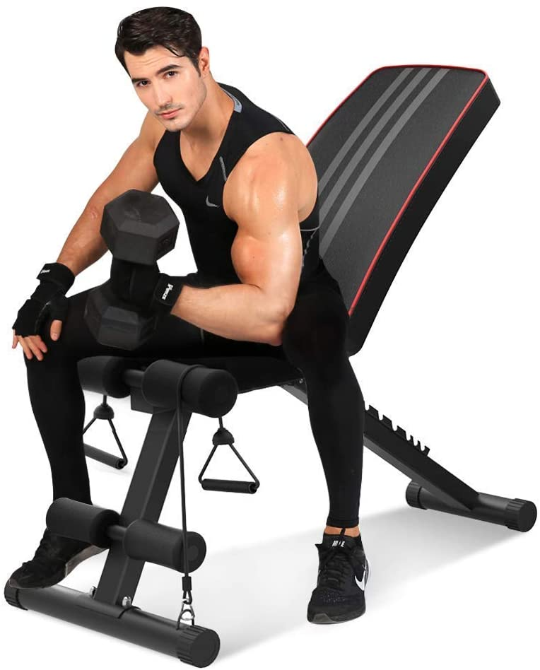 This image has an empty alt attribute; its file name is Bigzzia-Adjustable-Weight-Bench.jpg